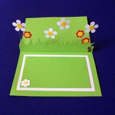 Pop up card my litt' garden 2/diy