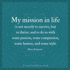 My Mission in Life.