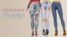 """pandelabs: """" A Heap of Jeans """"I really liked these jeans, and wanted them for The Sims 3. Thankfully @inabadromance gave me permission to convert them! """" • Don't re-upload or claim as your own. • All..."""