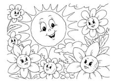 Decorazioni da stampare per bambini - Fiori da colorare