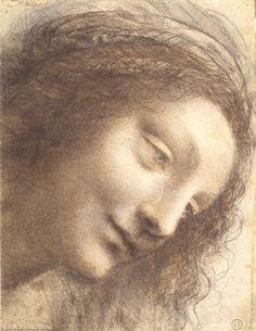 Leonardo Da Vinci-Cabeza de la virgen