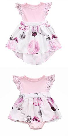 2b33fd93c5d Family Sister Floral Matching Clothing Newborn Baby girls Kids lace Summer  Floral Romper  amp Dress