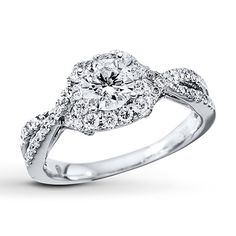 diamond engagement ring78 ct tw round cut14k white gold kay jewelers - Wedding Rings At Kay Jewelers