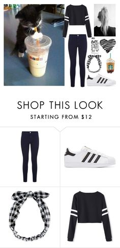 A fashion look from June 2016 featuring black and white baseball tee, dark blue denim jeans and leather low top sneakers. Browse and shop related looks. Dark Blue Denim Jeans, Cut Off Jeans, Adidas Originals, Stella Mccartney, Fashion Looks, Black And White, Tees, Polyvore, Shopping