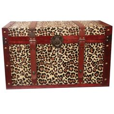 Who doesnt love cheetah??  I pinned this Safari Tommy Leopard Trunk from the Kristin Paton Interiors event at Joss & Main!  Bought for sun room.  :)