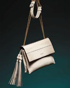 Lanvin Nomad Small Crossbody Bag w/Tassels, White