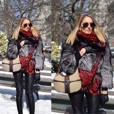 Farley Chatto Fur Coat, Gucci Bag