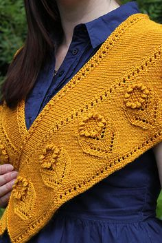 Ravelry: Summer Blooms Shawl pattern by Amanda Clark  #knit