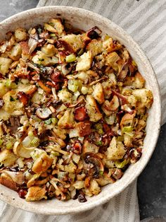 This Sourdough and Mushroom Stuffing #recipe is a perfect companion to our Perfect Roast Turkey. #thanksgiving
