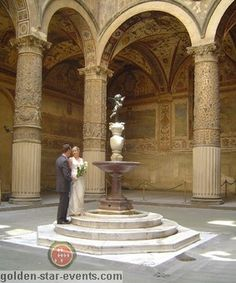 Palazzo Vecchio (Florence Town Hall) in Italy through Golden Star Events