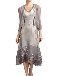 3b36eb407ce Women s Komarov Embellished Tiered Hem Dress With Jacket