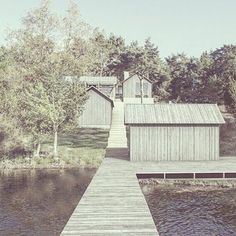 First sketch for a new project in the archipelago outside Stockholm. Lowenwidman Arkitekter