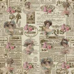 Vintage Newspaper and Roses