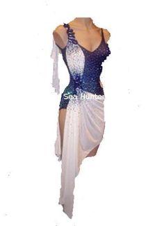 900u Lady ballroom latin chacha swing samba rumba dance dress US 10 #seephoto