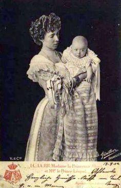 Princess Elisabeth of Belgium, wife of (then) Prince Albert of Belgium, with her son Leopold, the future King Leopold III of Belgium
