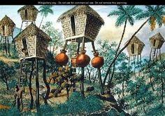 Huts of the Mountain Indians - Jose Honorato Lozano Filipiniana, Filipino, Art Reproductions, Philippines, Spanish, The Past, Museum, Explore, History