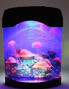 E&T/ nuovo serbatoio meduse decorazioni per la casa del mare luce nuoto mondiale lampada umore luce notturna multicolore ha condotto l'alta