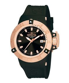 Take a look at this Rose Gold & Black Subaqua Watch by Invicta on #zulily today! $190 !!