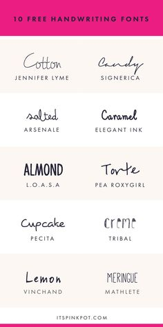 Check out these 10 gorgeous handwriting fonts. They are all FREE too so enjoy…