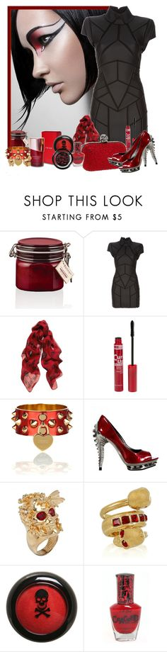 """In Difficult Times fashion Is Always Outrageous"" by clairestorace ❤ liked on Polyvore featuring Elemis, Gareth Pugh, Alexander McQueen, American Apparel, Metropolis, Hot Topic and Giorgio Armani"