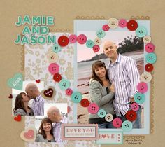 Cute and Easy DIY Scrapbook Ideas | Using Buttons by DIY Ready at http://diyready.com/cool-scrapbook-ideas-you-should-make/