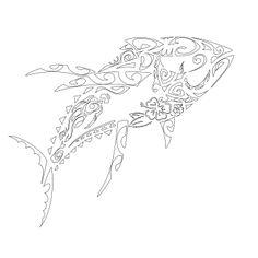 tribal tuna tattoo - Google Search