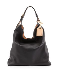 RDK Leather Hobo Bag, Black by Reed Krakoff at Neiman Marcus.