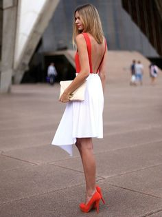 fresh look for summer - bright orange and white