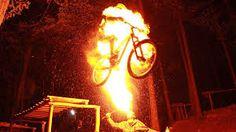 Resultado de imagem para bike jumping fire