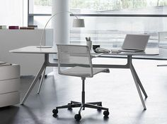 Wooden office desk Workstation desk STAR Collection by WILHELM RENZ | design Jehs Laub