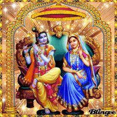 Krishna Gif, Radha Krishna Love, Radhe Krishna, Durga Images, Lord Krishna Images, Radha Krishna Pictures, Lord Vishnu, Lord Shiva, Good Morning Gif