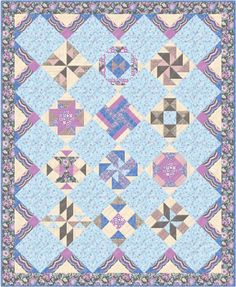 "Quilt Block of the Month - ""Thistleberry"" - 76-1/2"" x 93-1/2"" - finished blocks are 12"""