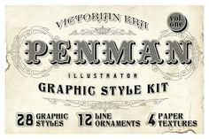 Graphic Design - Graphic Design Ideas  - Check out Penman Vintage Graphic Style Kit by designdell on Creative Market   Graphic Design Ideas :     – Picture :     – Description  Check out Penman Vintage Graphic Style Kit by designdell on Creative Market  -Read More –