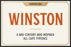 Winston by Carnley Design Co on @creativemarket