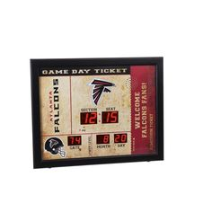 Team Sports America Atlanta Falcons Digital Rectangle Wall Clock at Lowe's. Celebrate game day with this ticket-stub themed wall clock and blue tooth speaker. The clock features some plastic construction with MDF frame and Rectangle Wall Clock, Wall Clock Price, Gifts For Sports Fans, Evergreen Enterprises, Ticket Stubs, Mdf Frame, South Carolina Gamecocks, Recycling Programs, Houston Texans