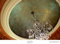 Beautiful gold and patina blue finish by Imago Dei. .. Lots of different ceiling ideas.