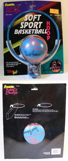 Rims and Nets 158962: Franklin Soft Sport Basketball Hoop David Robinson San Antonio Spurs 1990S Ball -> BUY IT NOW ONLY: $39.95 on eBay!