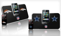 Groupon - $ 13.99 for an iHip NFL Portable iDock Speaker System ($ 49.95 List Price). Multiple Teams Available. Free Returns. in Online Deal. Groupon deal price: $13.99
