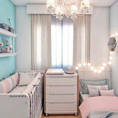 New Baby Room Decoration Ideas Baby Bedroom, Baby Room Decor, Bedroom Decor, Kids Bedroom, Baby And Toddler Shared Room, Baby Room Design, Shared Rooms, Girl Room, Room Inspiration