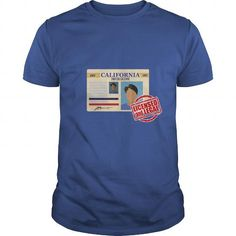 Cool CALIFORNIA  Licensed and Legal  Driving T shirts