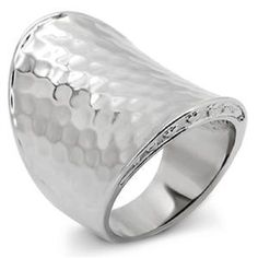 Contemporary Hammered Ring Stainless Steel SZ 7-10 Silver Bold Fashion Thumb #Unbranded #Band