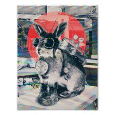 Time Traveller illustration by Ali Gulec #artsprojekt #ali #gulec #time #traveller #bunny illustration