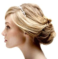 Brides messy chignon wedding hair ideas Toni Kami Wedding Hairstyles Hair jewelry