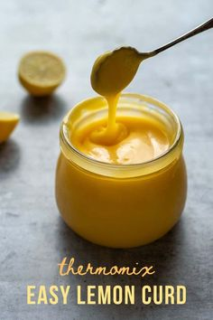 Deliciously easy sweet and tangy Lemon Curd made in the Thermomix.
