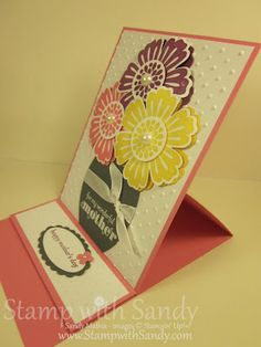 easel card using Mixed Bunch