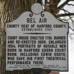 """Bel Air, Maryland-----possibly our next town to call """"home"""""""