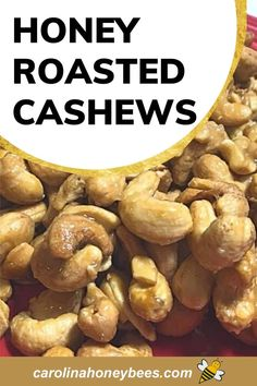 Cashew Recipes, Honey Recipes, Honey Roasted Cashews Recipe, Eating Raw, Healthy Eating, Cooking With Honey, Oven Cooking, Vegetarian Paleo, Quick Snacks