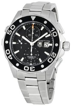 TAG Heuer Men's Aquaracer Chronograph Watch Best watches for men It feels like a well built and robust product. Best Watches For Men, Luxury Watches For Men, Cool Watches, Wrist Watches, Unique Watches, Latest Watches, Men's Watches, Fashion Watches, Rolex