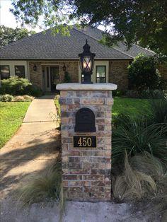 Mailbox by Windham Construction, Flower Mound, TX. I love it!