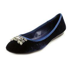 Lauren Ralph Lauren Women's Adelisa Flat,Dark Sapphire,9.5 B US